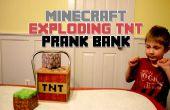 Minecraft explosión TNT broma Banco (transferencia de la imagen de madera de la impresora)
