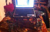 Escritorio del regazo de laptop y accesorios