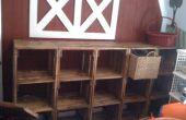 Almacenamiento de Playroom de cajón de madera modular