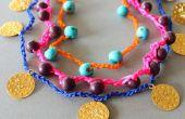 DIY collar de ganchillo una pulseras con perls