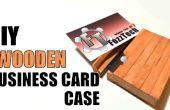 Cómo hacer un tarjeta de visita de madera/sostenedor de la caja