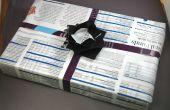 Sin costo la revista papel de regalo, Origami caja y arco