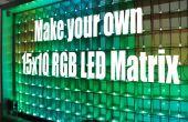 Hacer tu propia matriz de LED RGB de 15 x 10