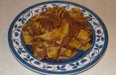 Rápido y fácil carne de res y fideos