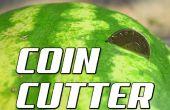 Cómo cortar una sandía en la mitad con una moneda