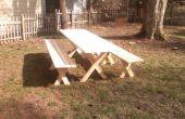 ¿Mesa de picnic con bancos separados