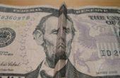 Dinero trucos: Cómo hacer Abe Lincoln (en el billete de $5) sonreír y fruncir el ceño.