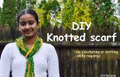 DIY bufanda anudada - ganchillo ni punto habilidades