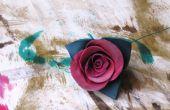 Hacer una rosa de cuero