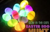 Resplandor en los huevos de Pascua oscuro