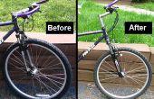 Reemplazar una horquilla de bicicleta de montaña MTB mayores