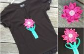 Roseta de cremallera decorada camiseta con broche desmontable