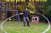 Supa-Hula (un Hula-Hoop muy grande hecho de conducto eléctrico plástico)