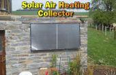 Colector de aire solar calefacción para nuestra casa de piedra del jardín construir