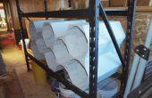 Hacer estante divders / paneles organizadores de basura madera y antiguo.