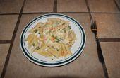 Cremosa Pasta de pollo con verduras