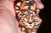 Orange Tiger Cat Sculpey Pendant