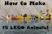 Cómo hacer 15 animales LEGO!