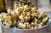 PopKale - cómo hacer palomitas de maíz sazonados con aceite de trufa infundido kale chips migajas