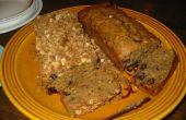 Pan de calabacín de arándano