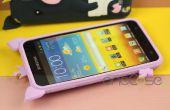 Lindo 3D historieta cerdo funda de silicona para Samsung Galaxy nota i9220