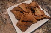 Asado ajo y galletas de hierba