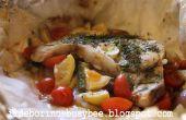 Casi a la brasa pescados y vegetales mixtos