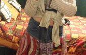 Cómo hacer una falda de bufanda upcycled