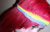 Diadema arco iris y la chica de pelo rojo