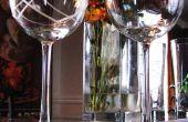 Vasos de vidrio grabado al agua fuerte