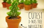 Más lindo limón Chocolate Navidad árbol Muffin