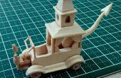 Mini razas Wacky no. 2 - Creepy Coupe Popsicle Stick modelo