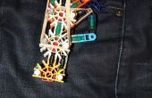 De bolsillo tamaño potente fácil hacer pistola de K'nex