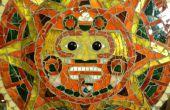 Mosaico de vidrio calendario Azteca