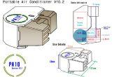 Acondicionador de aire portátil Peltier con pilas