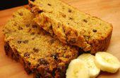 Mantequilla de maní de chocolate pan de plátano (vegano)