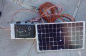 Energía Solar de la batería 12V pequeña plataforma de carga para una caravana o autocaravana