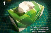 DIY: Hacer tu propio sostenedor del folleto de una caja de tejido