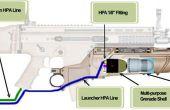 Airsoft rápido fuego Grenade Launcher Mod
