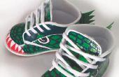 Zapatos del niño dinosaurio DIY