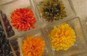 Gelatina flor centro de mesa