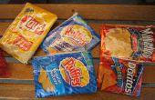 Caja de lápiz de la bolsa de viruta de patata
