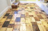 Crear un piso de madera de plataforma bricolaje con madera gratis