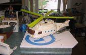 Torta de cumpleaños del helicóptero