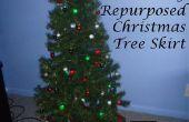 Falda de árbol de Navidad reciclados DIY