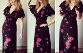 Mi no coser vintage peplum vestido remodelar