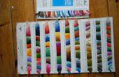 Hacer una tarjeta del color (sobre todo en seda bordado)