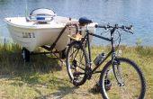 Remolcar un barco con una bicicleta