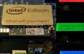 Registrador de temperatura de Edison de Intel con RBG-LCD