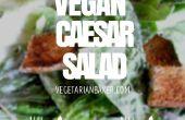Cómo hacer ensalada de Caesar vegano